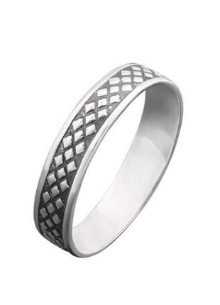 Кольцо серебро 925 орнамент вс004