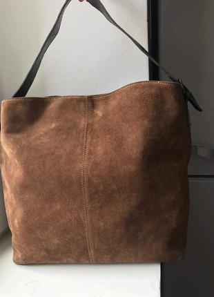 Вместительная замшевая сумка next