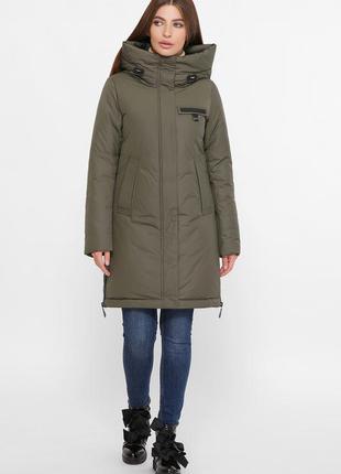 Зимняя куртка цвета хаки