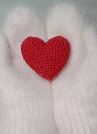 Вязаное сердце декор,  сувенир