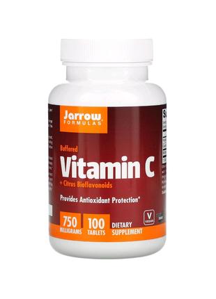 Буферизованный витамин C + биофлавоноиды цитрусовых, 750 мг, 100