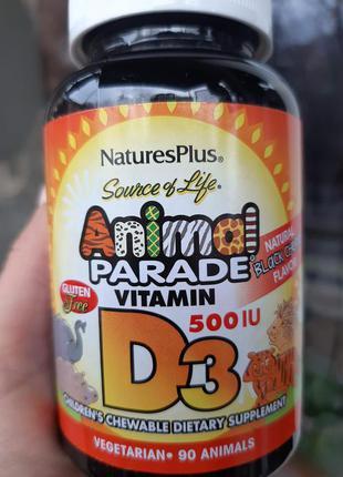 Детский витамин Д3, D-3, Animal Parade, NaturesPlus, IHERB