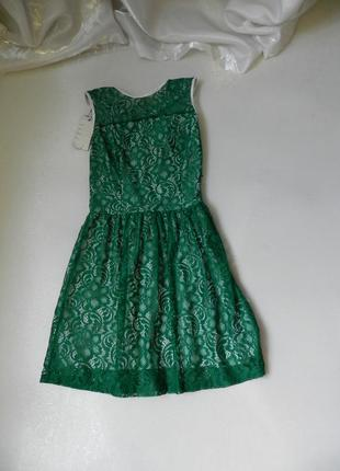 Платье гипюр стрейч с открытой спинкой