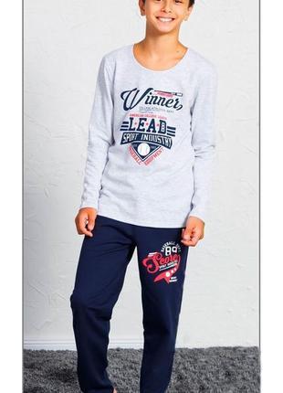 Тёплые пижамы для мальчиков на 9-10   лет байка