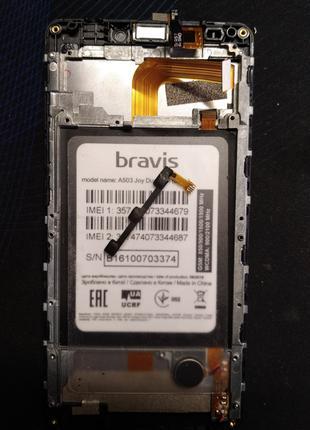 Bravis A503 Joy шлейф, кнопка включения (увімкнення) . Оригінал
