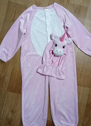 Кигуруми, пижама, костюм 🦄 розовый, эдинорог