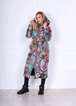 Куртка женская зима на силиконе с капюшоном без меха пуховик
