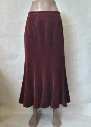 Новая юбка в пол годе модного цвета марсала/бордо с вельвета н...