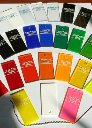 Оргстекло Цветное-Полупрозрачное Кусками  В размер  Монолит МП