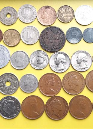 Монеты Европы , 42 шт.