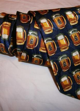 Прикольный пивной галстук шелк