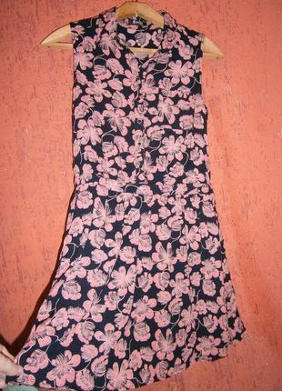 Короткое платье без рукавов  вискоза stella morgan