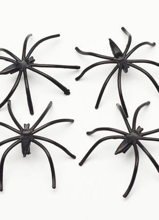 Пластиковые пауки на Хэллоуин, вечеринки, сувениры, декор игрушки