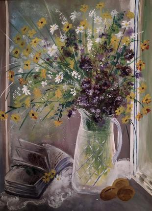 """Картина 40*30 ручная работа, цветы """"солнечный букет"""""""