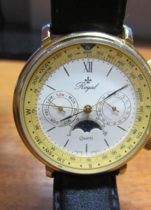 Коллекционные часы с компасом мужские Royal 23379 1988г.в.