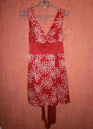 Красивое платье шелк длинный пояс без рукавов тренд на подклад...