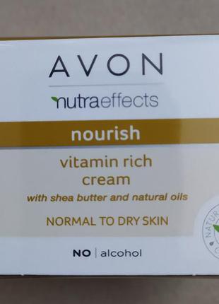 Крем для лица «питание» с маслом ши (50мл) nutraeffect avon
