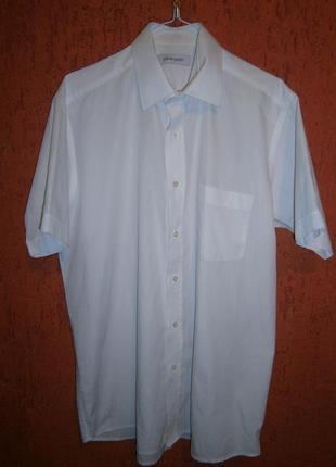 Рубашка тенниска  короткий рукав свободный крой хлопок