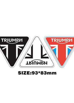 Светоотражающая наклейка  Triumph на мотоцикл, шлем, автомобиль.