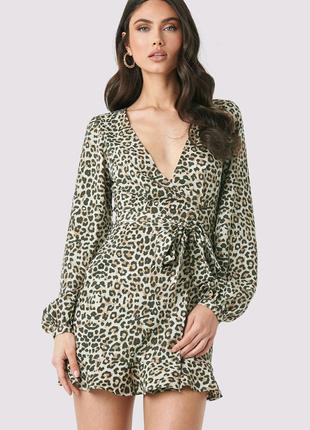 Леопардовое платье Missduided