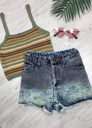 🌿 джинсовые шорты мом с высокой посадкой • mom fit