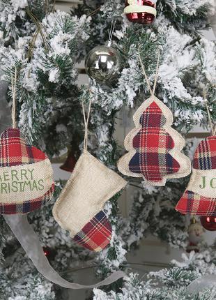 С Новым Годом 2020 Рождественское украшение для дома из мешковины