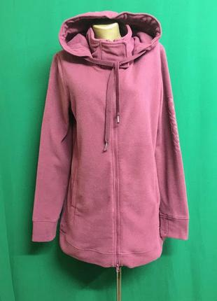 Длинная флисовая куртка-толстовка с капюшоном cheer