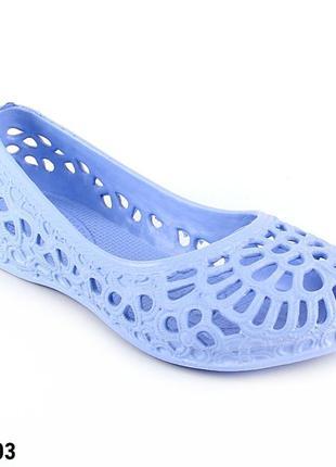 Балетки женские, голубые, р. 36 - 41, медицинская обувь,117203