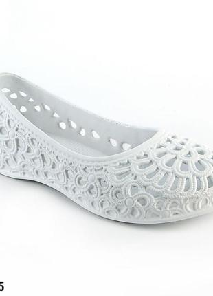 Балетки женские, белые, р. 36 - 41, медицинская обувь,117205