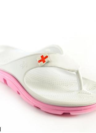 Вьетнамки женские, белые, р. 37, медицинская обувь,118201