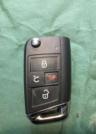 Выкидной ключ 5G0 959 752 AN Volkswagen Tiguan, Golf, GTI 315 Mhz