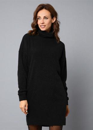 Теплое платье туника свитер ангора арктика гольф