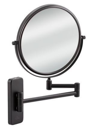 Настеннное косметическое зеркало двухстороннее c 3-х кратным увел