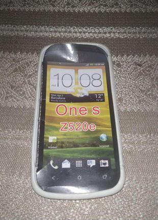 Чехол-бампер HTC One S Z520e Белый