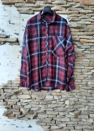 Вискозная удлинённая рубашка 👕 туника большого размера