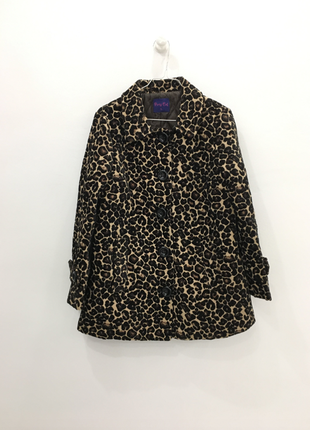 Пальто леопард