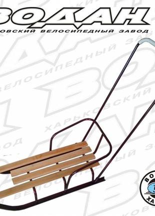 """Санки детские """"СД-1"""" с ручкой-толкателем"""