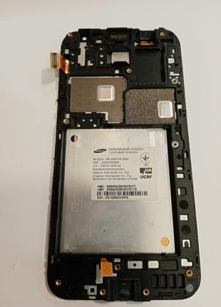 Samsung SM-J200H дисплейный модуль с рамкой и микрофоном
