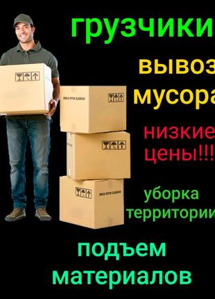 Грузоперевозки грузчики вывоз мусора занос материалов