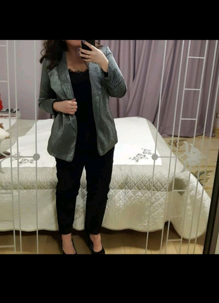 Удлиненный блейзер пиджак