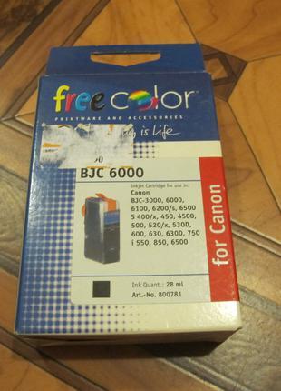 Картридж для струйного принтера цвет черный  Canon BCJ6000
