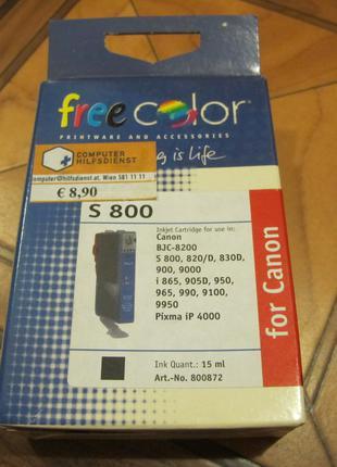 Картридж для струйного принтера Canon S 800 черный