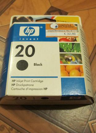 Картридж для струйного принтера 20 HP, черный