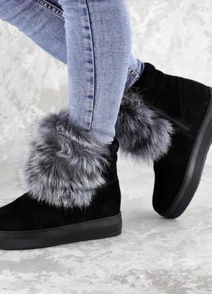 Женские зимние ботинки с мехом