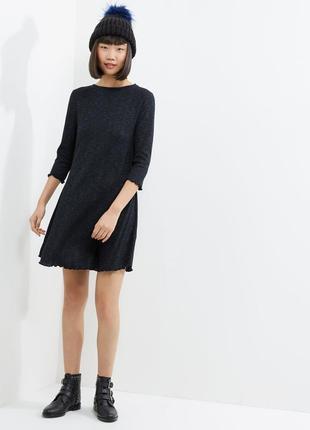 Платье в рубчик  A-силуэта new look
