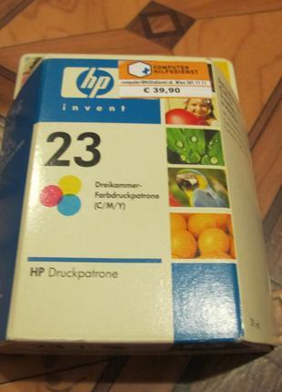 Картридж для струйного принтера, цветной (три цвета) НР 23