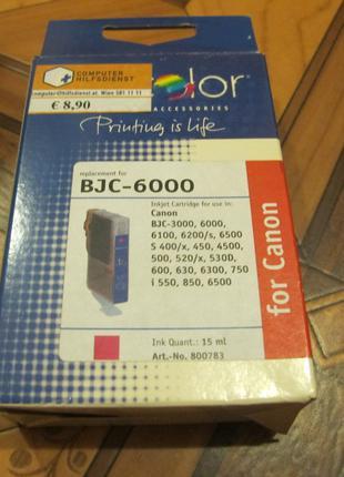 Картридж для струйного принтера Canon BJC 6000 красный