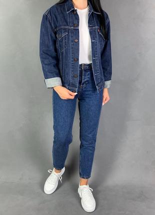 Куртка джинсовая  джинсовка индиго бойфренд levi's .