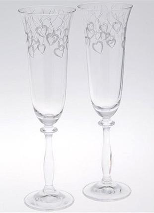Набор бокалов для шампанского Bohemia Angela 190 мл