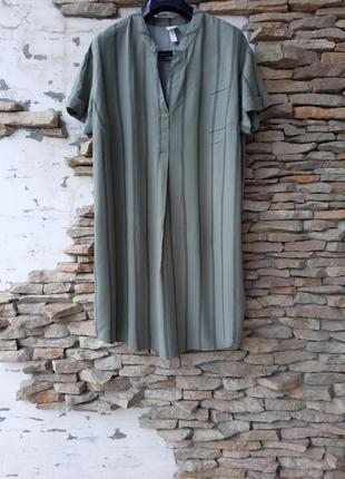 Стильное вискозное платье 👗 рубашка туника большого размера
